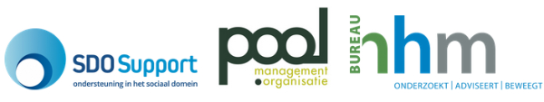 SDO Support, Pool Management en Organisatie en Bureau HHM logo's