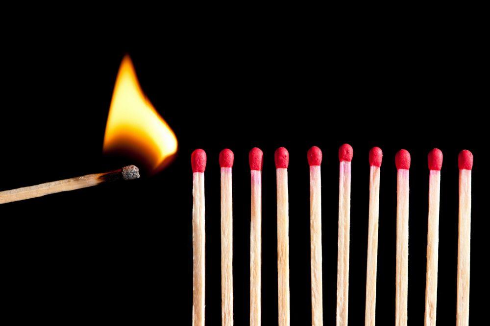 Vlammetje vuur lucifer