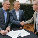 Gerwin Pol partner zorg ondertekening met Klaas Pool en Gerard Veger
